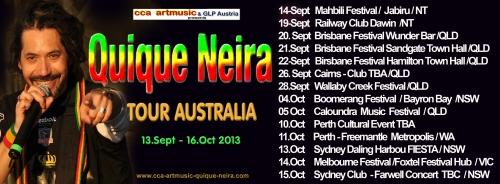 Quique Neira Tour Dates AUSTRLIA 2013
