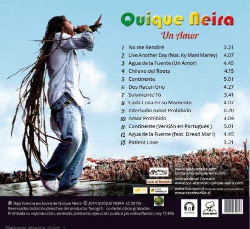 "Quique Neira  Album "" Un Amor ""_  BACKSIDE"